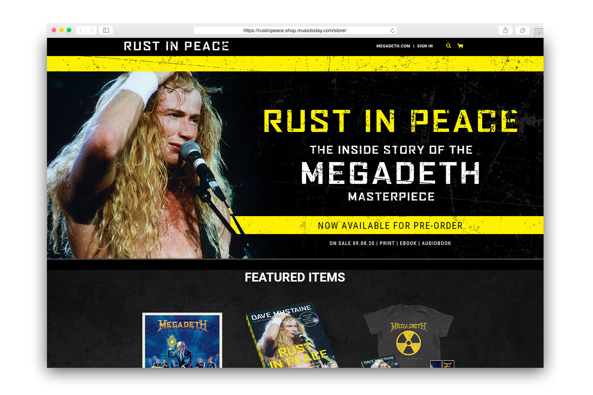 Rust In Peace Official Store